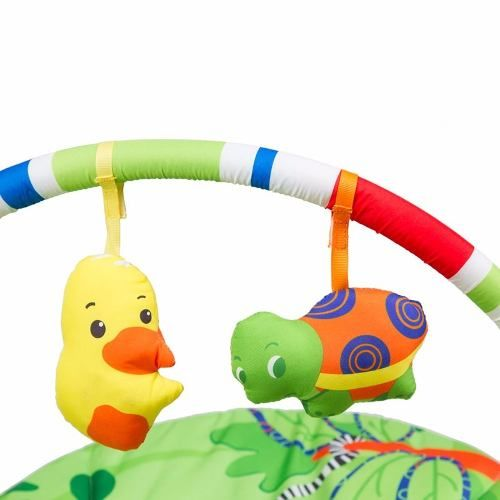 Cadeira Repouso Musical Vibratória C/ Móbile Poly Verde Baby Style  - Doce Diversão