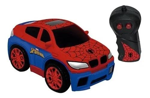 Carrinho Controle Remoto 3 funções - SpiderMan Homem Aranha High Speed Vermelho – Candide