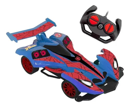 Carrinho Controle Remoto Spiderman Web Charge 7 funções  Bateria Recarregável -  Candide