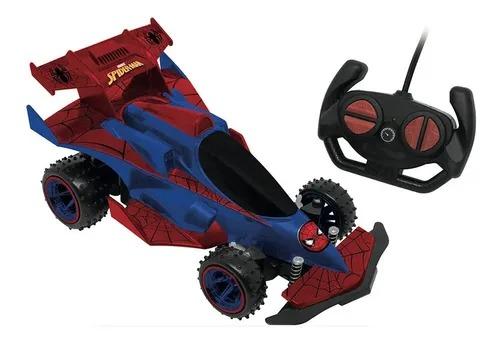 Carrinho Controle Remoto Spiderman Web Runner 7 funções  Bateria Recarregável  Candide