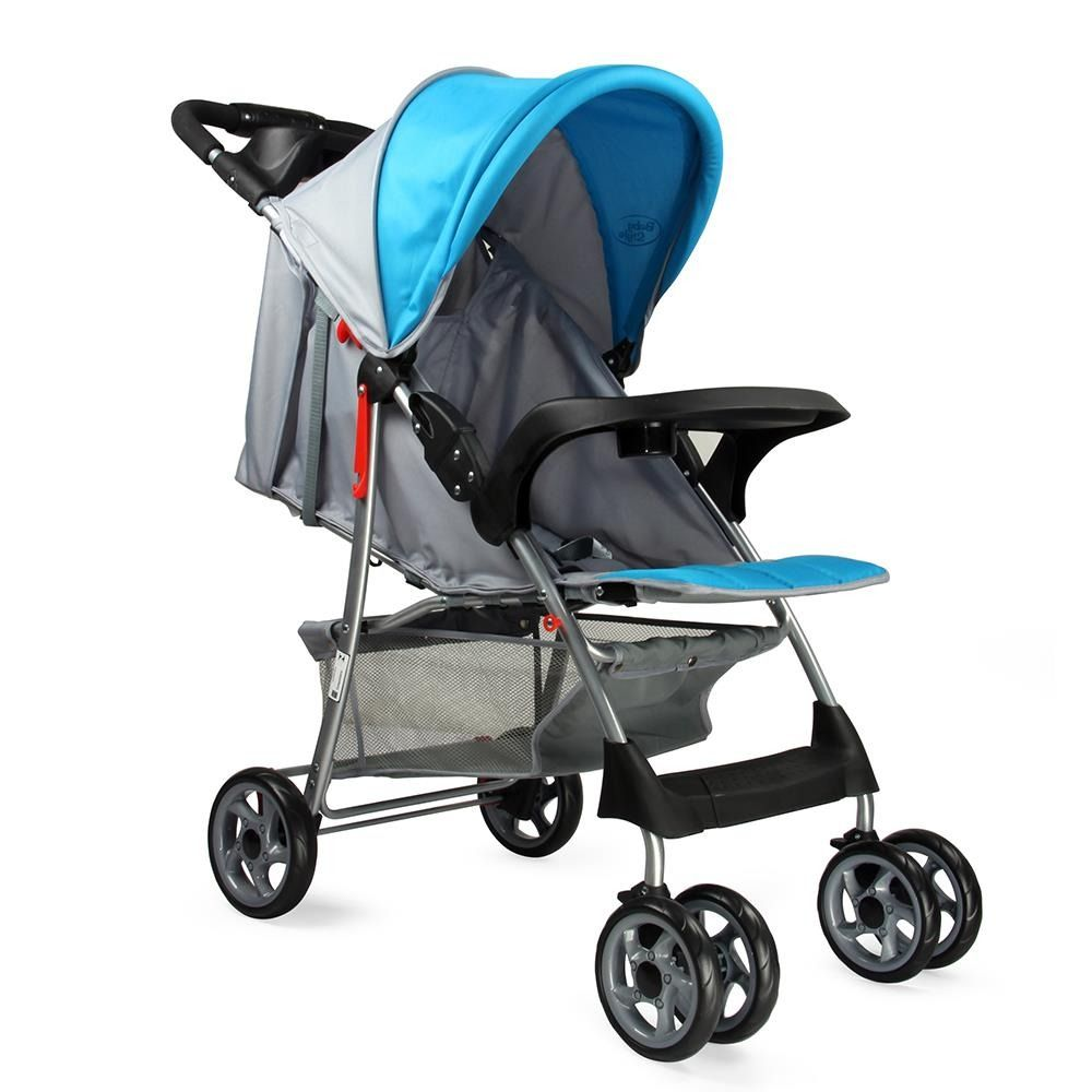 Carrinho de Bebê Passeio Reclinavel Esmeralda Azul ate 15kg Baby Style