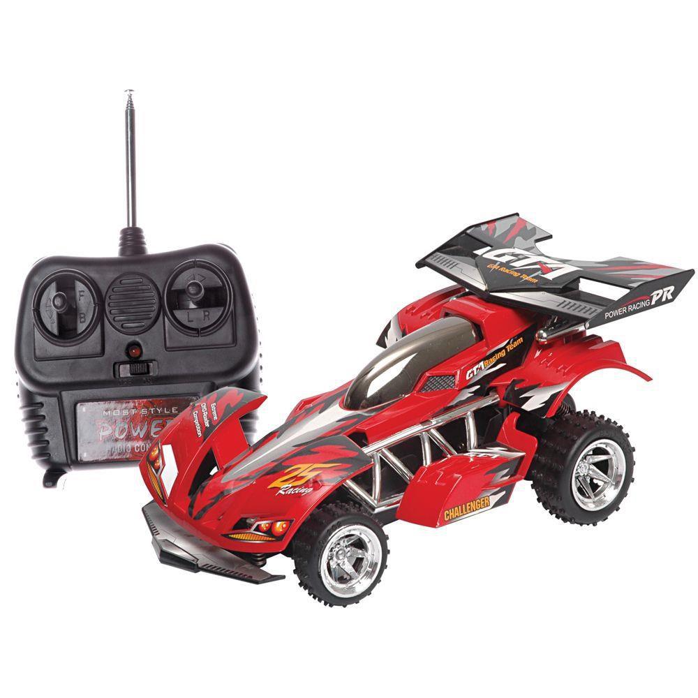 Carrinho Extreme Rádio Controle 7 Funções Vermelho Bateria Recarregavel - Candide
