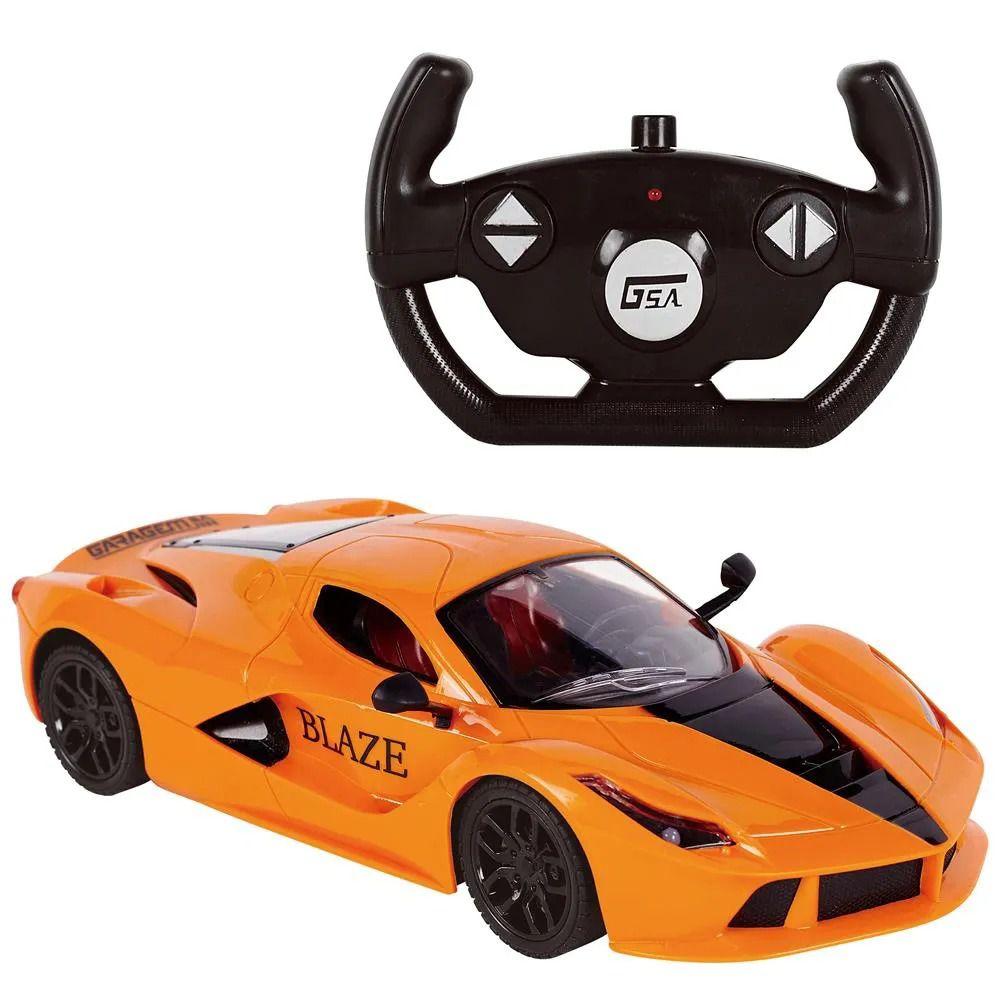 Carro de Controle Remoto Blaze Garagem SA Com 7 Funções 27 cm – Laranja - Candide