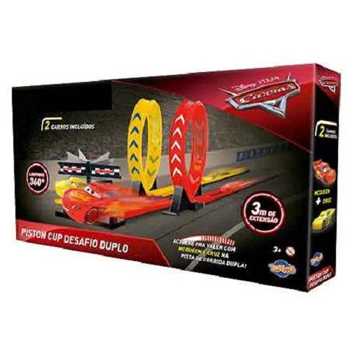 Carros 2 Disney Pista Copa Pistão Desafio Duplo Looping - McQueen e Cruz – Toyng