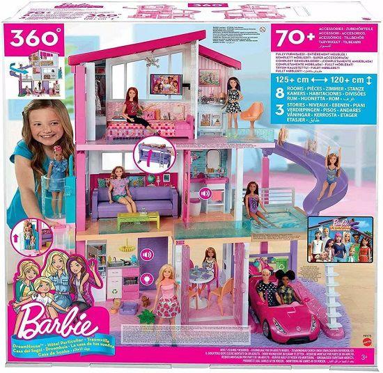 Casa Dos Sonhos Da Barbie C/ Som e Luz 3 andares 70 Acessorios - Mattel