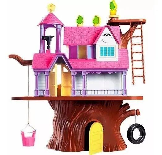 Casa Na Árvore Com 2 Bonecas e Acessorios 40 cm  -  Xplast
