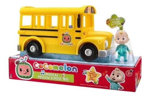 Cocomelon - Ônibus Escolar Amarelo Com Som e Boneco JJ  - Candide