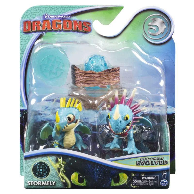 Como Treinar Seu Dragão Evolução - Tempestade - 2 Mini Dragões - Sunny
