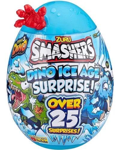 Smashers Ovo Dino Ice Age Grande Surprise  25 Surpresas 30 cm  Vermelho -  Fun