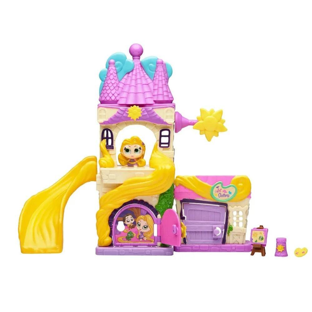 Doorables Disney Playset Torre da Rapunzel Com Personagem DTC  - Doce Diversão