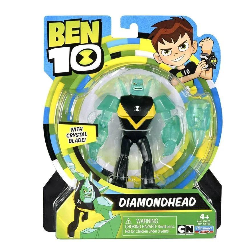 Figura De Ação Ben 10 Articulado C/ Acessorio - Boneco Diamante - Sunny