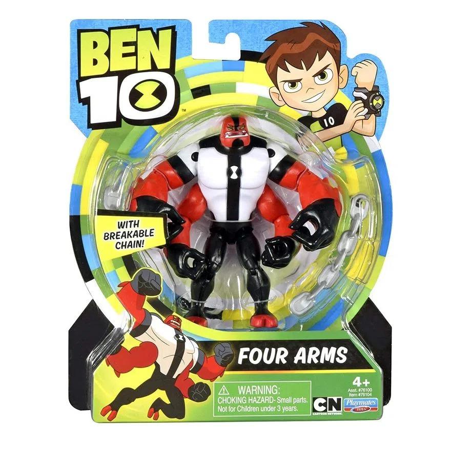 Figura De Ação Ben 10 Articulado C/ Acessorios - Boneco Quatro Braços - Sunny