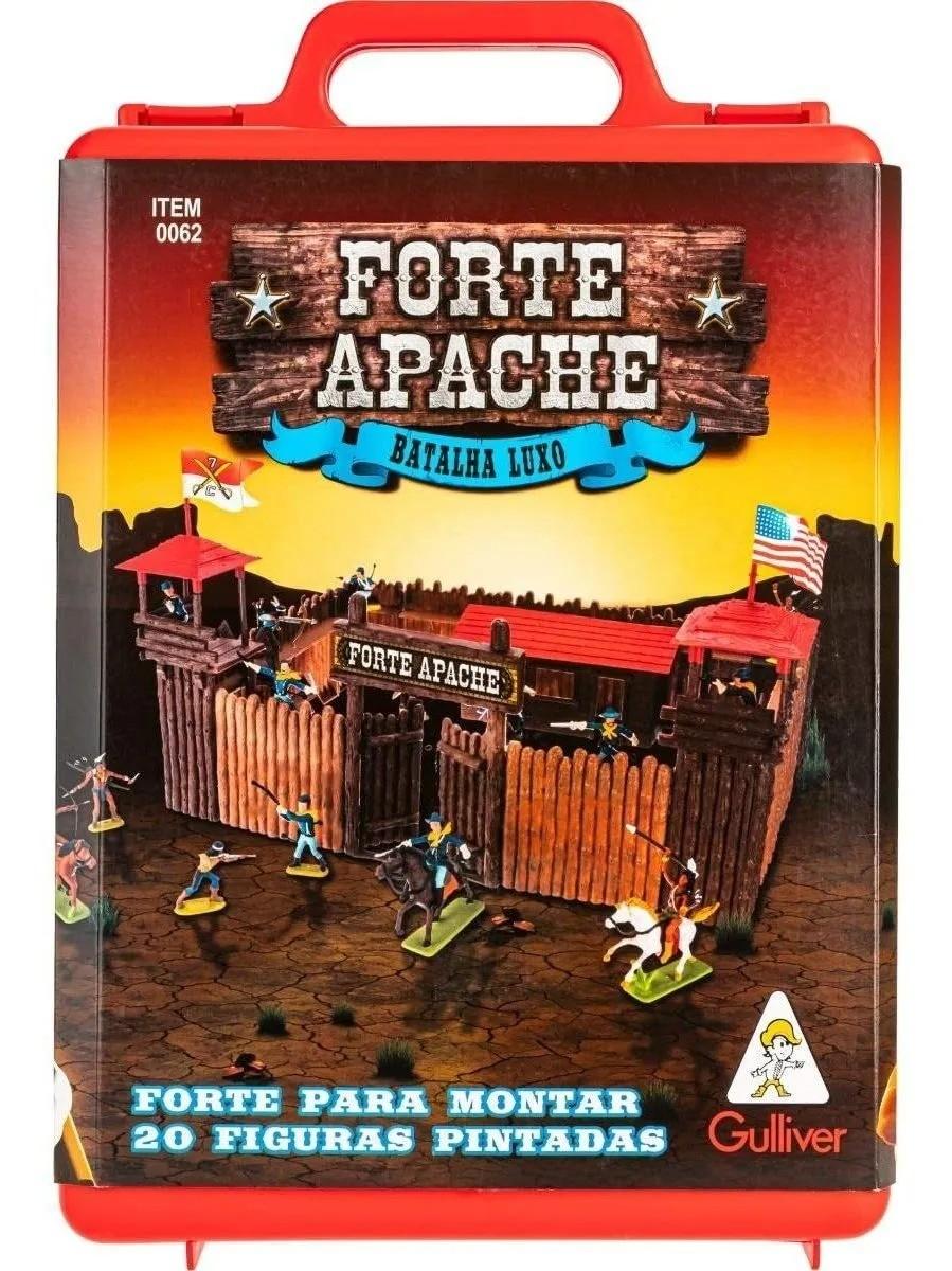Forte Apache Batalha De Luxo Maleta C/20 Figuras Pintadas - Gulliver