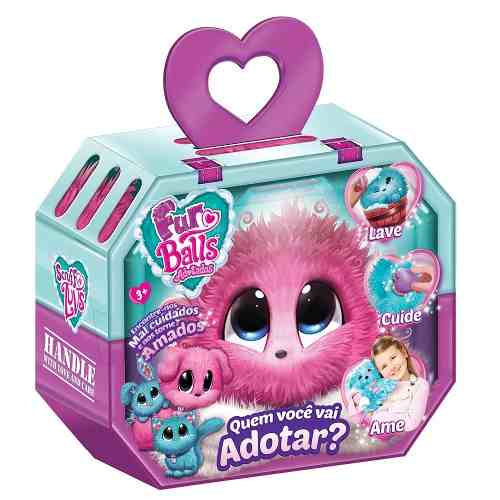 Fur Balls Pets Adotados Surpresa Rosa – Lave,Cuide ,Ame - Fun