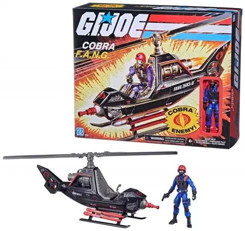 Gi Joe Retro Veículo Cobra F.a.n.g Enemy  e Piloto Cobra Inimigo- Hasbro
