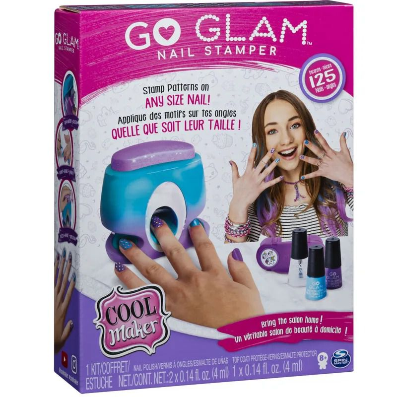 Go Glam Nail Stamper – Kit Máquina para Aplicação Pintura de Unhas – Sunny  - Doce Diversão