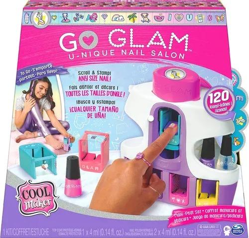 Go Glam Unique Nail Salon Kit Máquina Aplicação Pintura De Unhas Mãos e Pés - Sunny