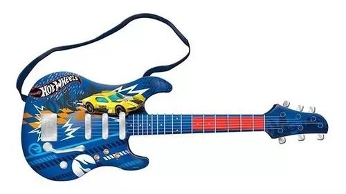 Guitarra Infantil Radical Hot Wheels Luxo -  Conecta com Smartphone  - Fun
