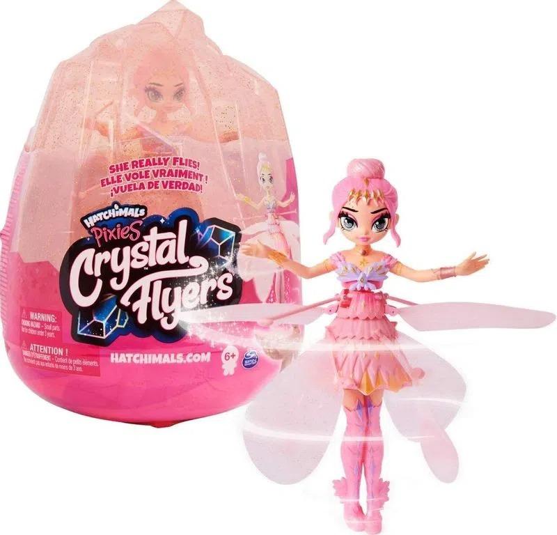 Hatchimals Pixies Crystal Flyers Pink Magical  Fada Voa de Verdade   Sunny