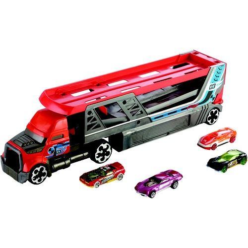 Hot Wheels Caminhão Lançador e 5 carrinhos - Mattel
