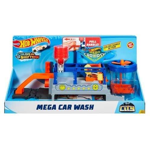 Hot Wheels  Mega Lava Rápido Lava Jato Car Wash - Mattel   - Doce Diversão