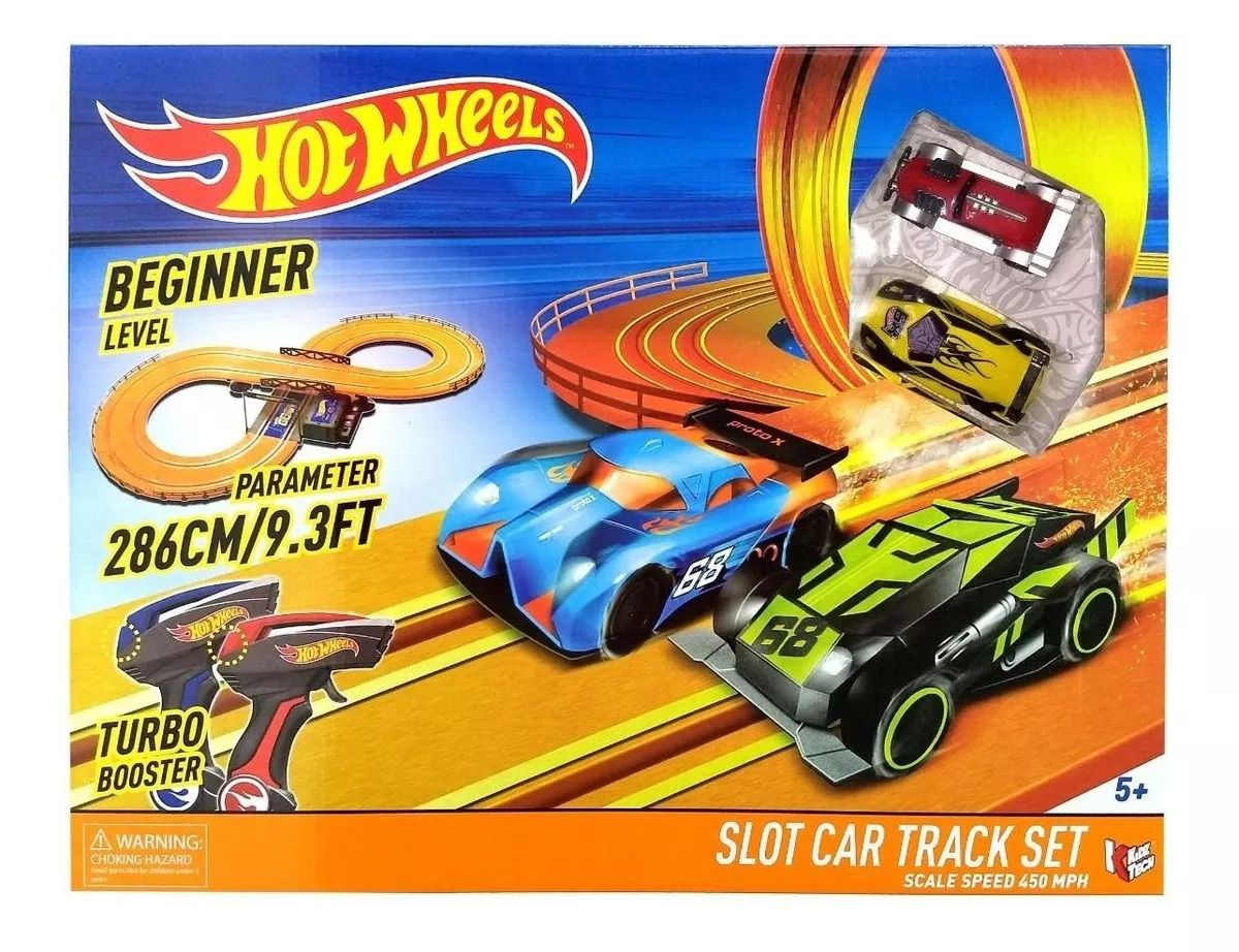 Hot Wheels Track Set Pista Com 286 cm - 2 carrinhos com controle - Multikids