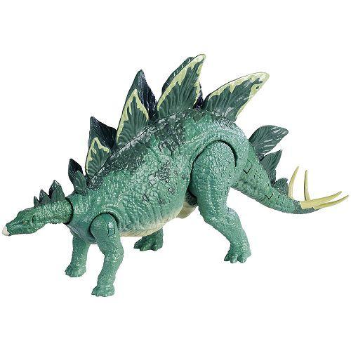 Jurassic World Ataque Acão Stegosaurus Articulado – botão ataque cauda - Mattel