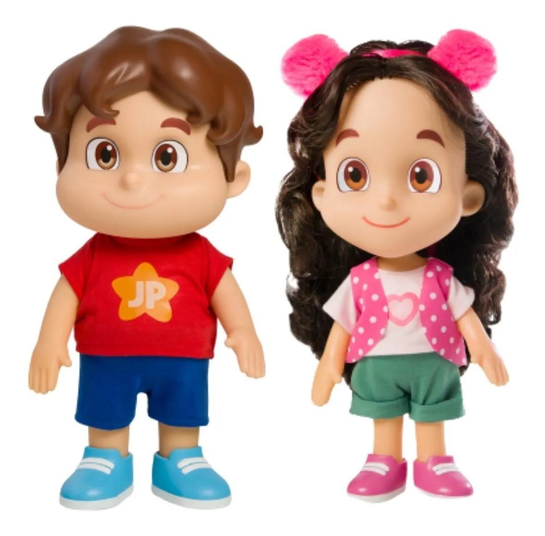Kit Bonecos Maria Clara & João Pedro Jp Youtubers ( 26 cm articulados )  Baby Brink