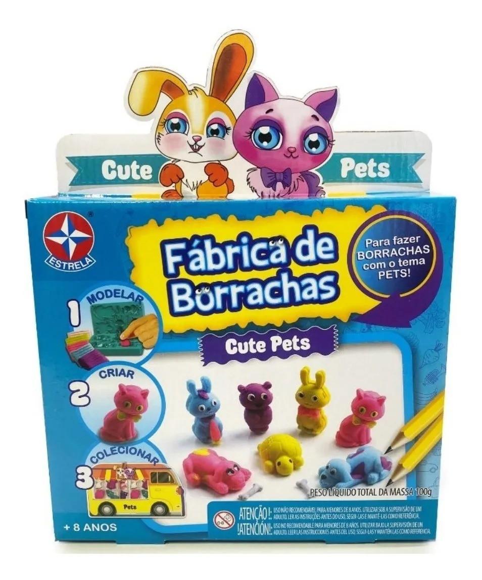 Kit Fabrica De Borrachas Cute Pets 100g – Moldar e Criar - Estrela
