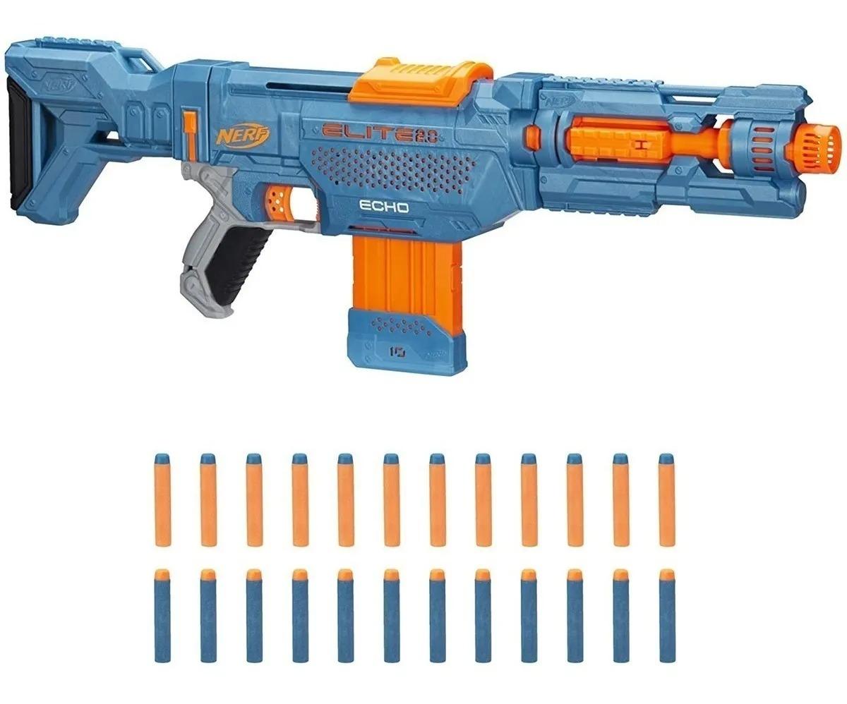 Lançador Nerf Elite 2.0 Echo Cs-10 C/24 dardos - 4 Em 1 – Hasbro