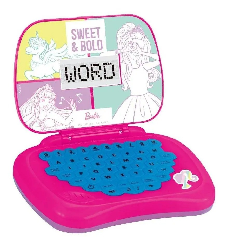 Laptop Infantil Barbie - português/inglês - Candide