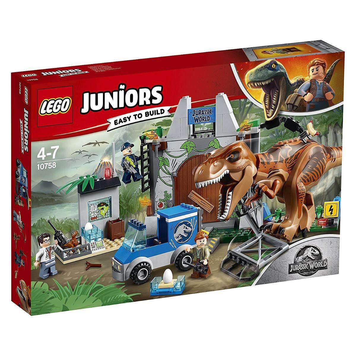 Lego 10758 Juniors Jurassic World Fuga de T-Rex – 150 peças