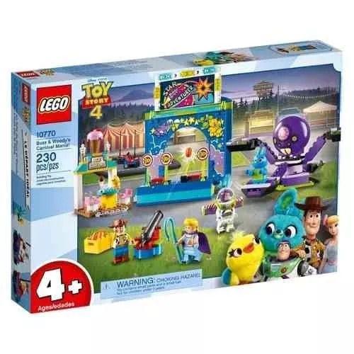 Lego 10770 Toy Story 4 – Carnaval Mania Do Buzz Lightyear e Woody  - 230 peças