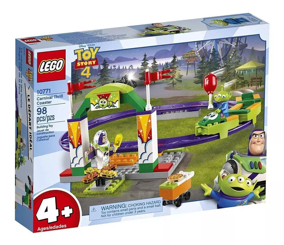 Lego 10771 Toy Story 4 – Montanha Russa de Emoções  - 98 peças