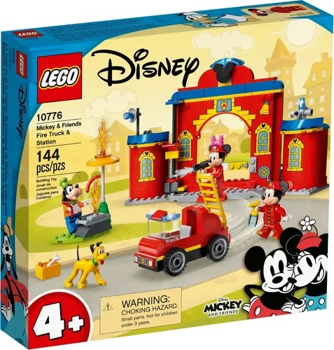 Lego 10776 Disney  Quartel e Caminhão De Bombeiros Mickey e Amigos  144 peças