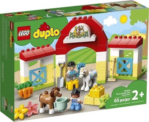 Lego 10951 Duplo - Estábulo De Cavalos E Pôneis – 65 peças