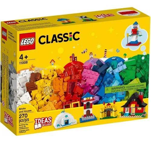 Lego 11008 Classic – Caixa Criativa Blocos E Casas – 270 peças