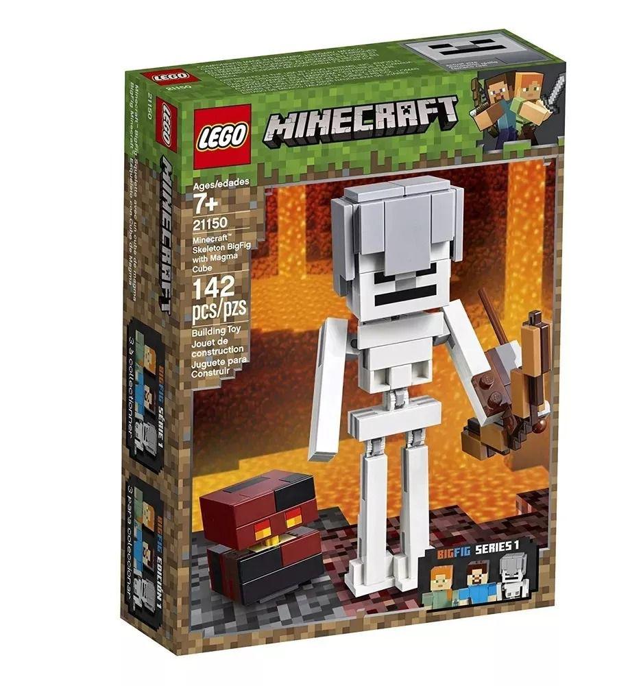 Lego 21150 Minecraft  - Bigfig Esqueleto com Cubo de Magma - 142peças