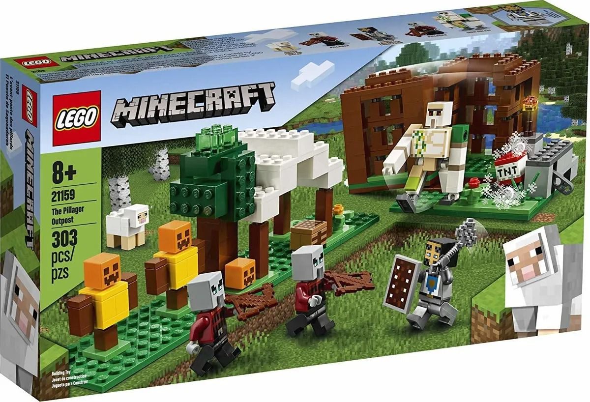 Lego 21159 Minecraft The Pillager Outpost - 303 peças