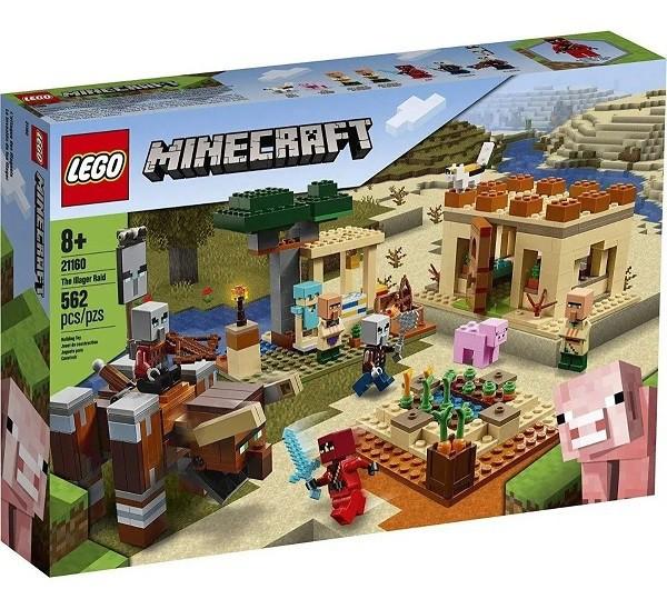 Lego 21160 Minecraft O Ataque De Illager - 562 Peças