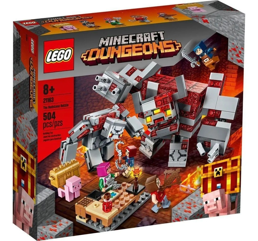Lego 21163 Minecraft - A Batalha De Redstone - 504 Peças