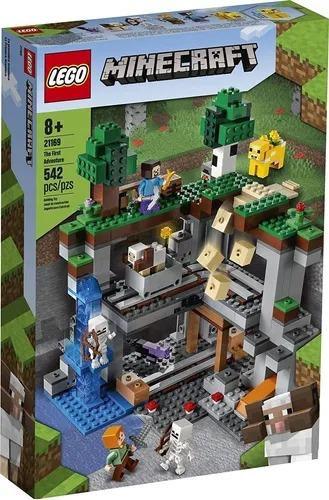 Lego 21169 Minecraft A Primeira Aventura - 542 Peças