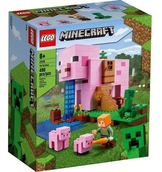 Lego 21170 Minecraft - A Casa do Porco - 490 Peças