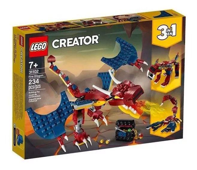 Lego 31102 Creator Dragão Do Fogo 3 em 1 – 234 peças
