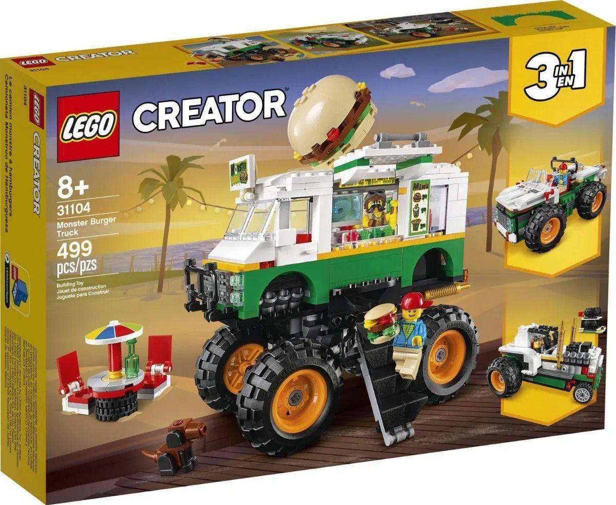 Lego 31104 Creator - Caminhão Gigante De Hamburguer 3 em 1 – 499 peças