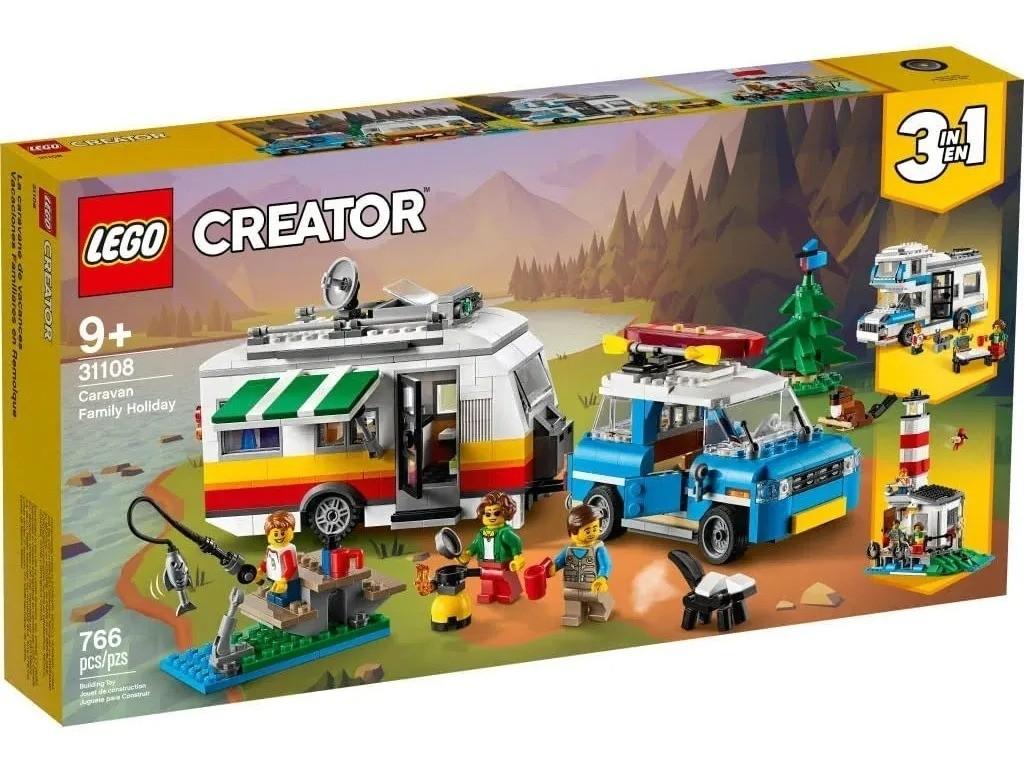 Lego 31108 Creator 3 em 1 - Férias Em Família No Trailer – 766 peças