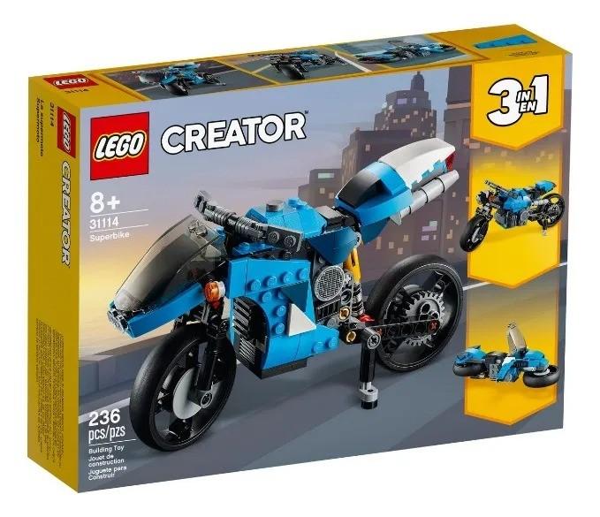Lego 31114 Creator - Supermoto 3 Em 1 – 236 peças