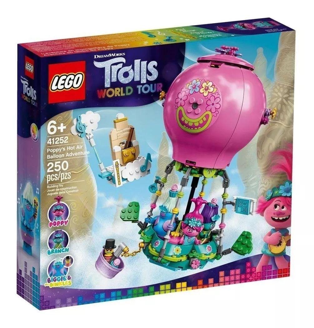 Lego 41252 Trolls World Tour Aventura em Balão de Ar Quente de Poppy – 250 peças