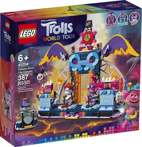 Lego 41254 Trolls World Tour - Concerto Vulcão Rock City – 387 peças