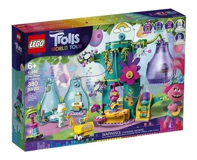 Lego 41255 Trolls World Tour - Festejo Na Aldeia Pop – 380 peças
